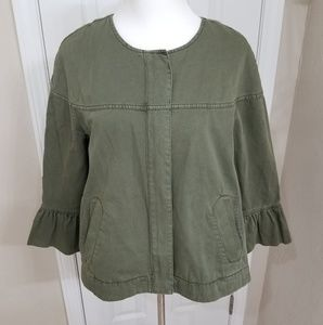 EUC Sanctuary Olive Bell Sleeve Jacket Medium